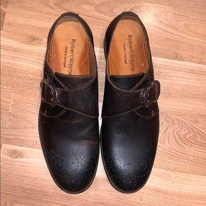 Robert Wayne monk shoes dark brown leather ssz 8.5